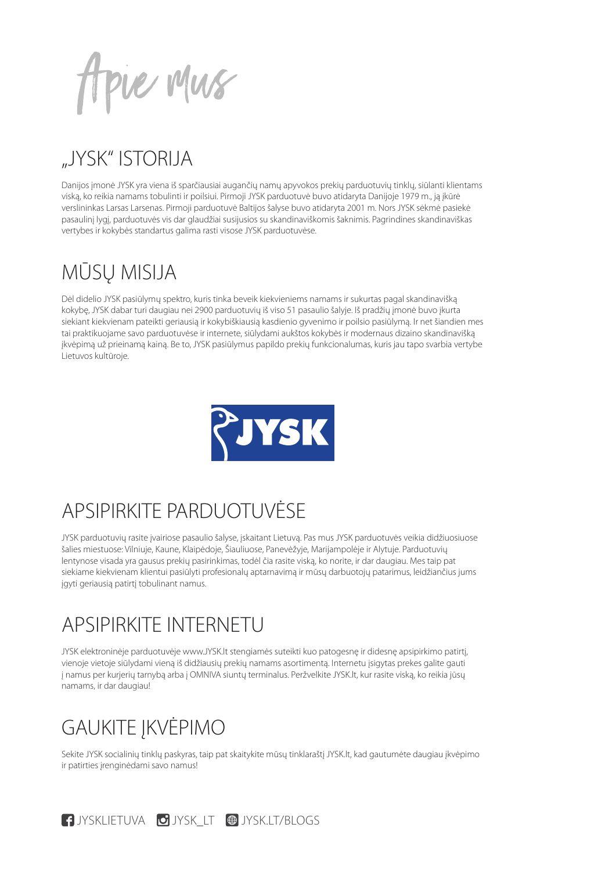 JYSK leidinys - 2 puslapis
